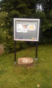 ...nur noch wenige Schritte bergab vom Parkplatz bis zum Vereinsheim......